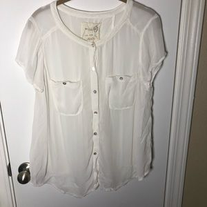 We the Free Sheer Button Up Blouse